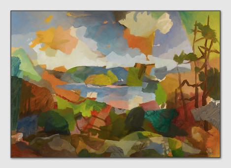 Gullmaren Fjord, 2008, Öl auf Papier, 42 x 59 cm - sold.