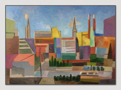Hafencity, 2015, Öl auf Papier, 42 x 59 cm