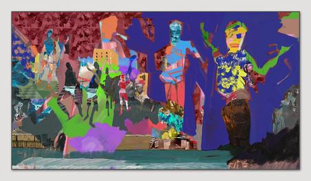 Wo ist hier der Spielplatz, 2014, Digitale Malerei, Printsize 36 x 66 cm