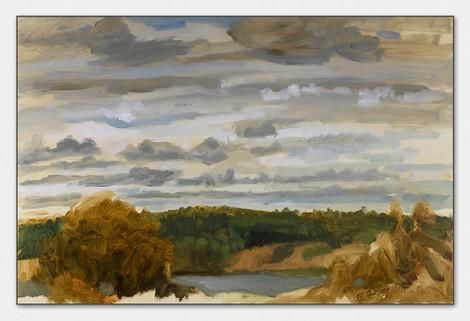 Wolkenstudie, Bohuslän, 2007, Öl auf Papier, 28x38 cm