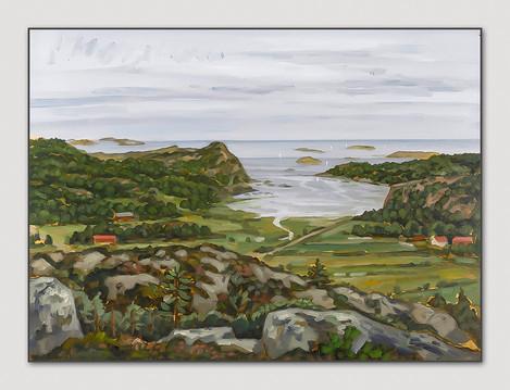 Lyse, Bohuslän, 2007, Öl auf Papier, 28x38 cm