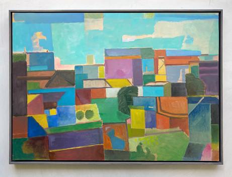 Landschaft, 2020, Öl auf Papier, 50x70 cm