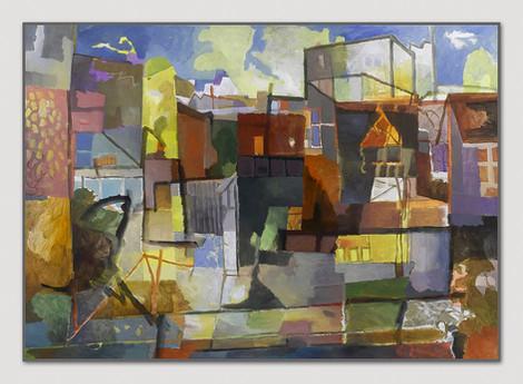 St. Georg, 2008, Öl auf Leinwand, 135 x 170 cm - sold.