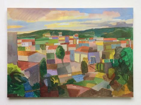 Odemira, Portugal, 2017, Öl auf Papier, 42 x 59 cm - sold.
