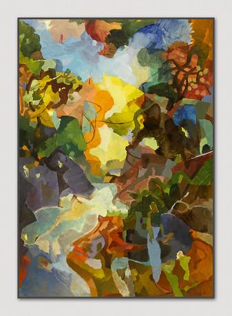 Badvik, 2008, Öl auf Papier, 100 x 70 cm - sold.