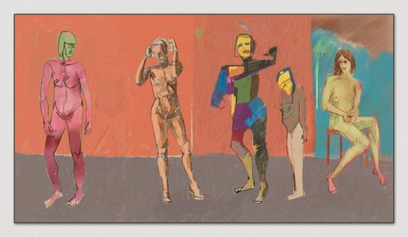 Figurenstudie, 2014, Digital Malerei, Printsize 33 x 66 cm