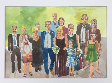 Familie, 2019, Aquarell, 23x31 cm