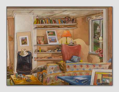 Konstnärs Stuga, 2007, Pleinair, Öl auf Papier, 28x38 cm