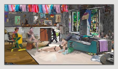 Kate, Francis und ich, 2013, Digital Malerei, Printsize, 36 x 66 cm