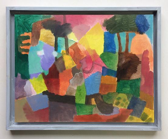 Ohne Titel, 2018, Öl auf Papier, 30 x 40 cm