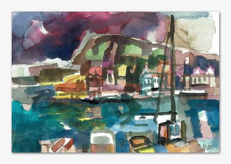 Bovallstrand, 2001, Aquarell, 16x24 cm