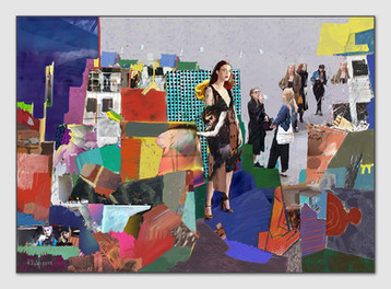 Gallerinas, 2015, Digital Malerei, Print Size, 50 x 70 cm