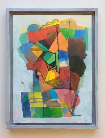 Farbkopf, 2019, Öl auf Papier, 40x30cm