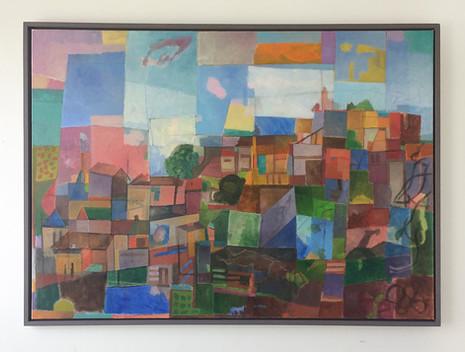 Lissabon, 2017, Öl auf Leinwand, 100 x 140 cm