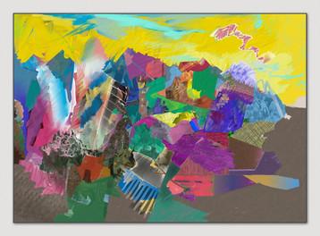 Erinnerung an das Valle Maira,  2015, Digital Malerei, Print Size, 50 x 70 cm