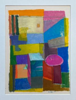 Kleine Farbimprovisation, 2021, Öl auf Papier, 40x30 cm