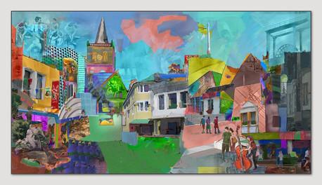 JazzIbbenbueren, 2015, Digital Malerei, Printsize, 36 x 66 cm
