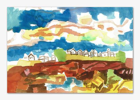 Smögen, 2001, Aquarell, 16x24 cm