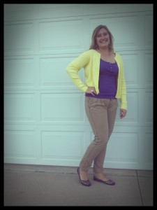 Fall Fashion Challenge- Day Fourteen- Color Me Happy