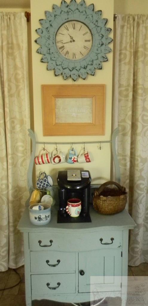 Coffee Station with Christmas Mugs