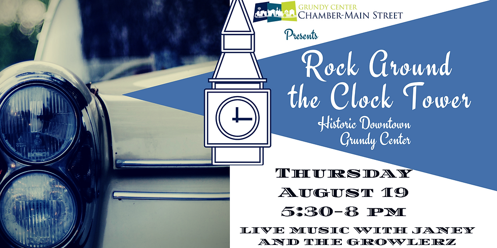 Rock Around the Clock Tower August Event