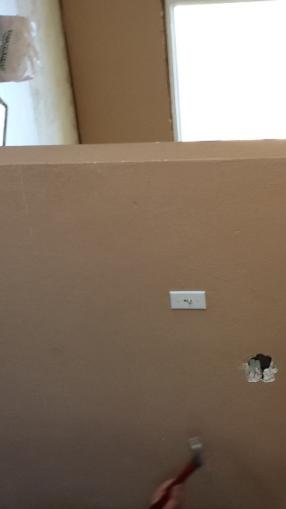 Wall Separating the Kitchen and the Living Room