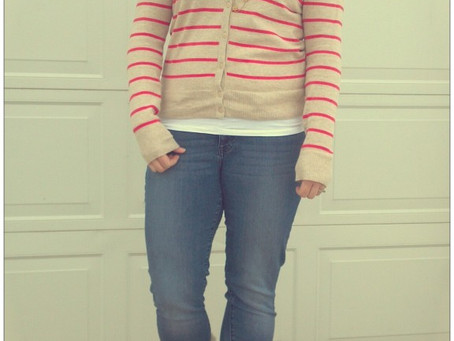 Day Nine- Road to Spring- Striped Cardigan