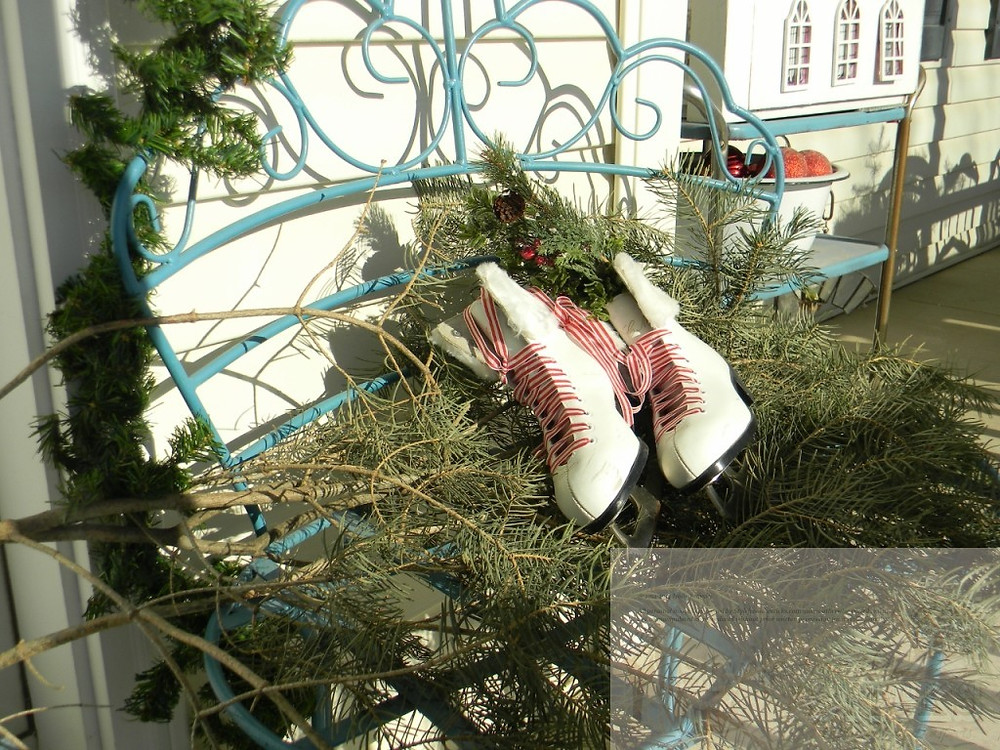 Ice Skates and Evergreens