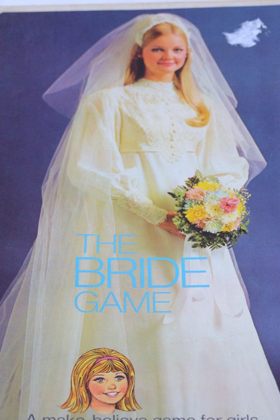 Vintage Bride Board Game 1970s Girls Groom Wedding
