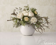 fresh flowers and home arrangement floral