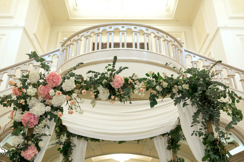 wedding balcony flowers and home