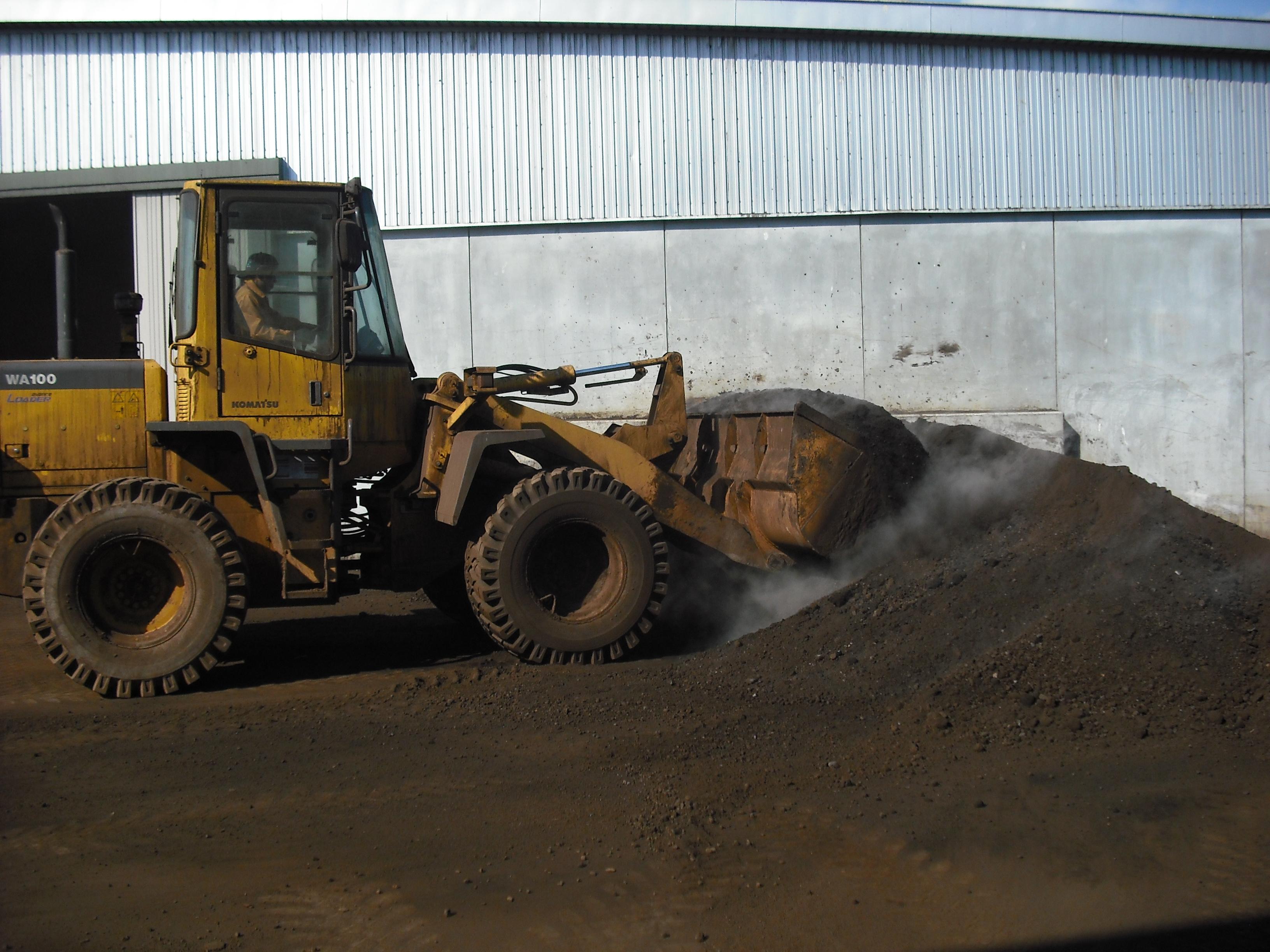 帯広事業所にあります堆肥化施設です。