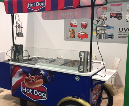 215PC Deluxe Hot Dog Cart with side lanterns triple sink cabinet.jpg