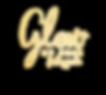 Glow_by_ERIN_gold foil TM powder cursive