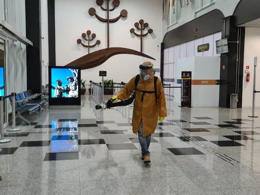 Defesa Civil intensifica sanitização de espaços públicos