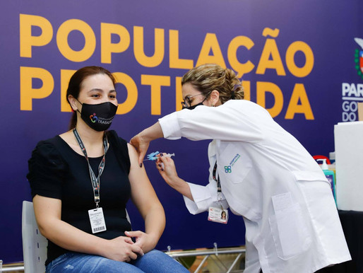 Paraná já vacinou 88,25% dos profissionais de saúde com a 1ª dose
