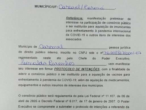 Cascavel adere ao consórcio de municípios para comprar vacinas