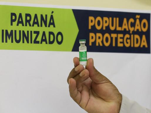 Com 21 mil aplicações em um dia, Paraná chega a 184 mil vacinados