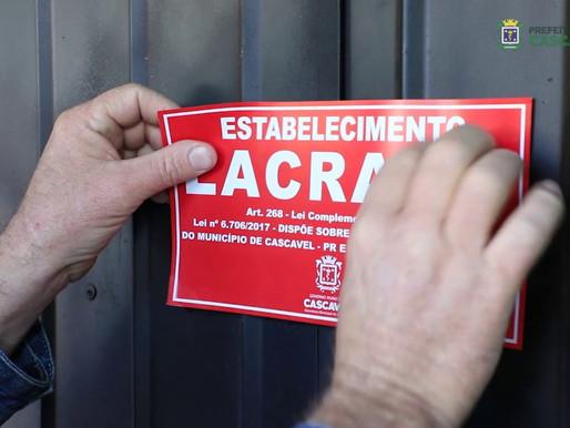 Covid-19: Fiscalização vistoria mais 27 estabelecimentos em Cascavel