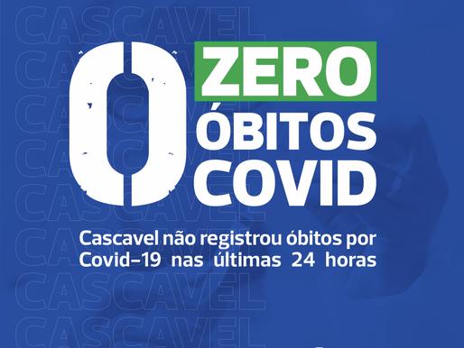 Cascavel não tem morte por Covid em 24h