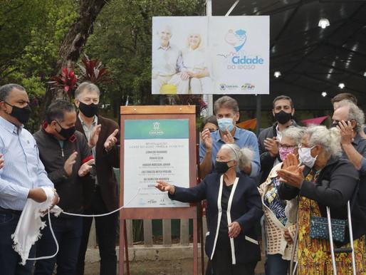 Cidade do Idoso: Paranhos entrega revitalização do Parque Tarquínio