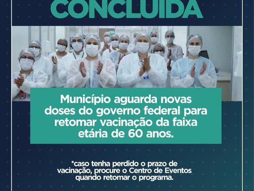 Cascavel espera chegada de novas doses para vacinar pessoas com 60 anos