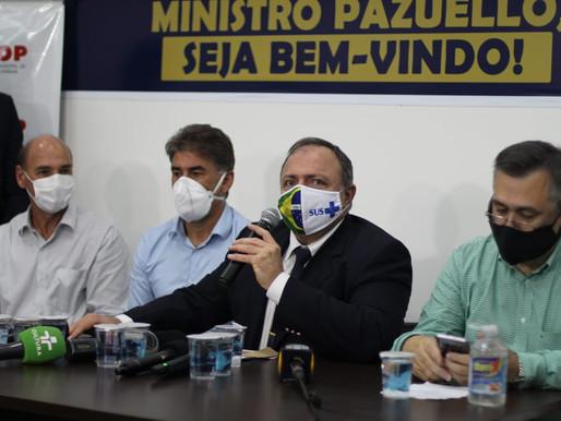 """Ministro da Saúde visita Cascavel e promete apoio """"em tudo o que for preciso"""""""