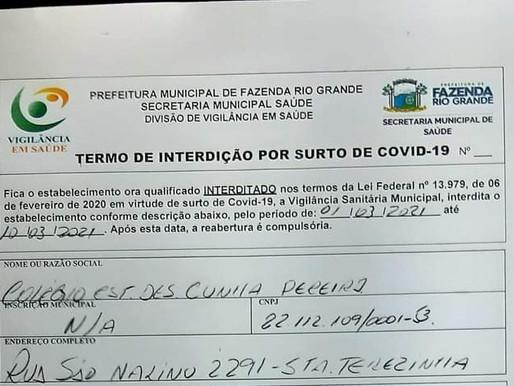 Colégio estadual em Fazenda Rio Grande no Paraná é interditado após 'surto' de Covid-19