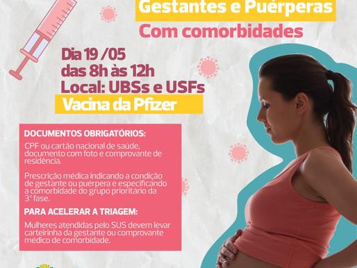 Cascavel recebe primeiro lote da Pfizer e inicia vacinação de gestantes com comorbidades