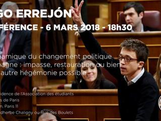 Podemos : Inigo ERREJON à l'AEPP