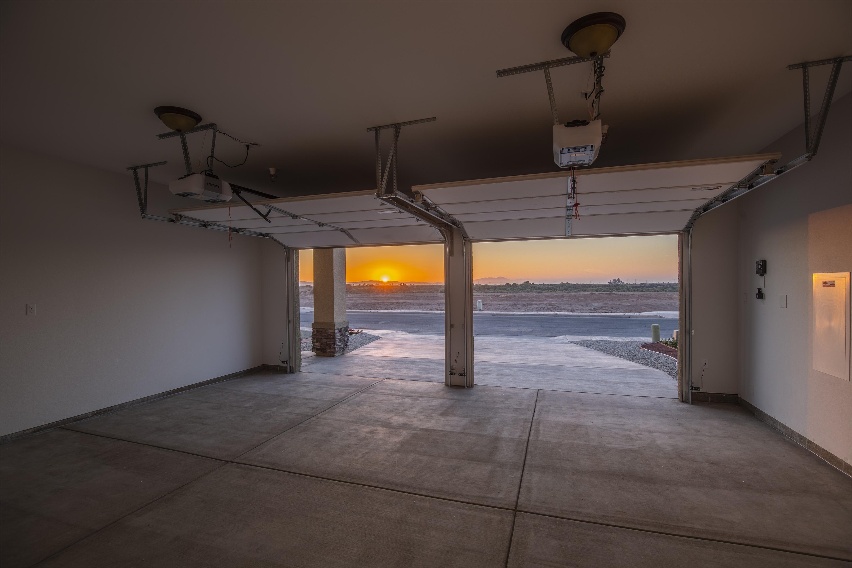 garage sunset