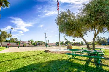 The public park inside the Ridge Park neighborhood