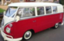 red wedding car