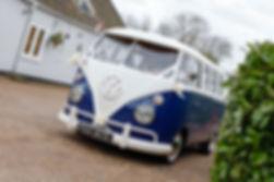 blue wedding car